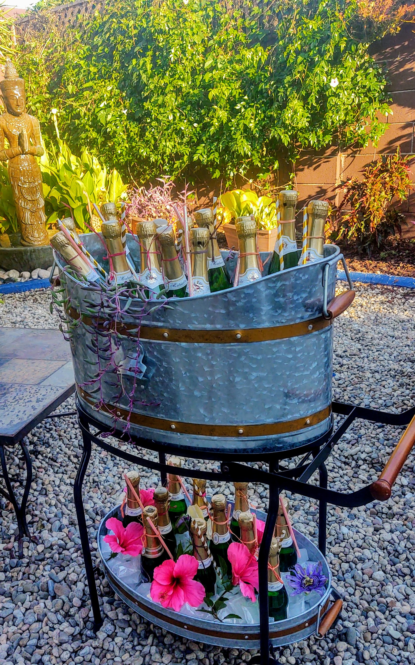 Champagne cart with minis