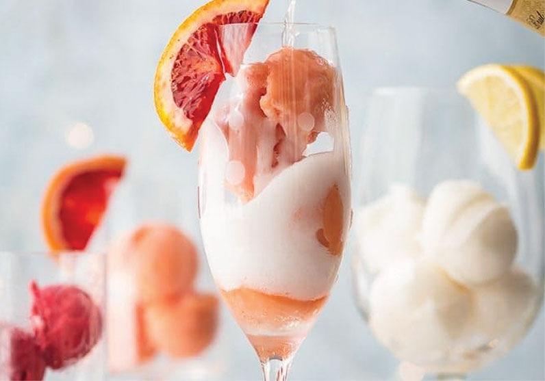 mimosa ice cocktail